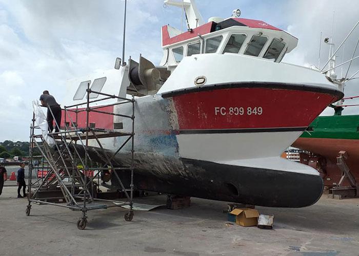 Réparation de bateau